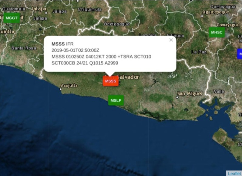 Screenshot of Reportes METAR - ClimaYa (1)